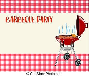 Barbecue party blank invitation.