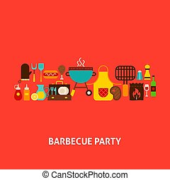 Barbecue Party Greeting Card