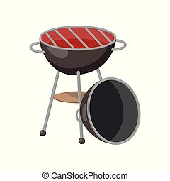 Barbecue party grill cartoon vector Illustration