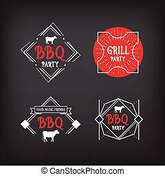 Barbecue party icon. BBQ menu design.