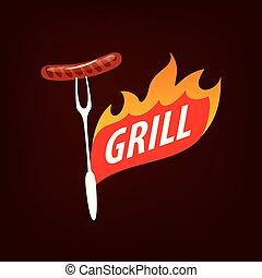 Barbecue party logo
