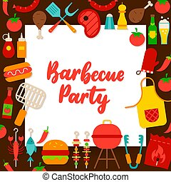Barbecue Party Paper Concept