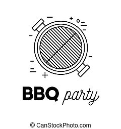 Barbecue party with grill