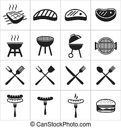 barbecue, pictogram