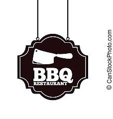 barbecue restaurant design, vector illustration eps10...