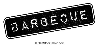 Barbecue rubber stamp. Grunge design with dust scratches. ...