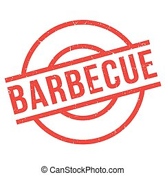 Barbecue rubber stamp