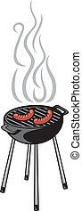 barbecue, salsiccia, griglia