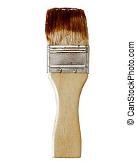 barbecue sauce basting brush - close up of a barbecue sauce...