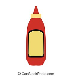 Barbecue sauce bottle - Isolated barbecue sauce bottle icon...