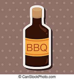 barbecue sauce equipment theme elements
