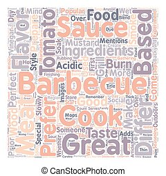 Barbecue Sauce For A Perfect Barbeque text background ...