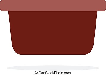 Barbecue sauce serving vector flat material design isolated ...