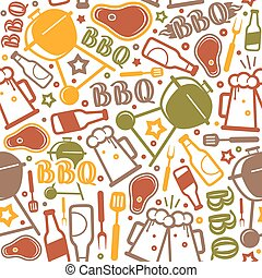 Barbecue seamless pattern
