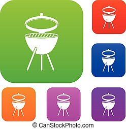 Barbecue set color collection