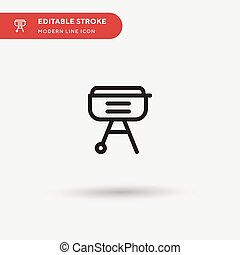 Barbecue Simple vector icon. Illustration symbol design template for web mobile UI element. Perfect color modern pictogram on editable stroke. Barbecue icons for your business project