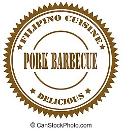 barbecue-stamp, ポーク