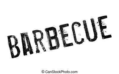 Barbecue stamp rubber grunge
