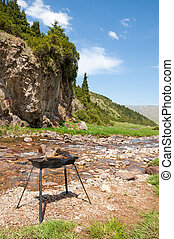 Barbecue. Tan Shan Mountains. Alpine Plateau Assy