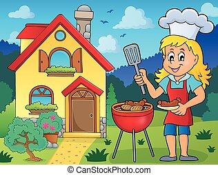 barbecue, tema