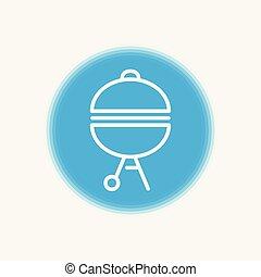 Barbecue vector icon sign symbol