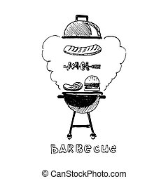 Barbecue. Vector illustration isolated on white