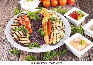 barbecue vegetables