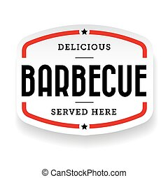 Barbecue vintage label sign