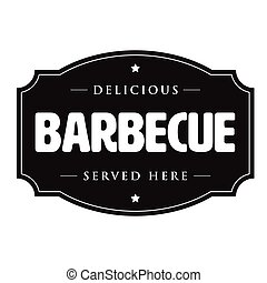 Barbecue vintage sign Bbq retro