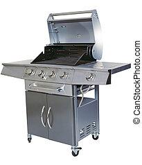 barbecue, vit, utklippsfigur, bakgrund
