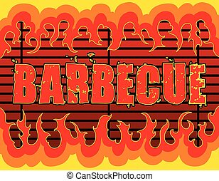 Barbecue With Flames