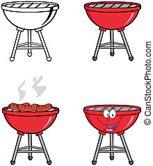 Barbecue's. Collection - Illustration Of Barbecue's....