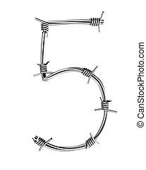 Barbed wire alphabet, 5