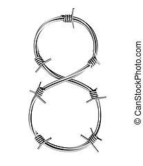 Barbed wire alphabet, 8