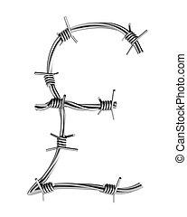 Barbed wire alphabet, pound symbol