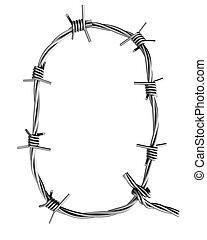 Barbed wire alphabet, Q