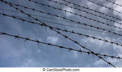 Barbed Wire and cloud Time Lapse