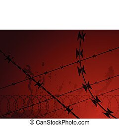 Barbed wire background - Background of barbed wire and...