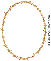 Barbed wire border frame background clip art.