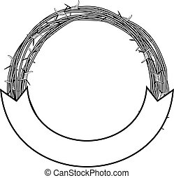 barbed wire frame - Vector illustration frame of barbed wire...