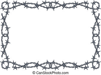 barbed wire frame vector - vector barbed wire frame pattern...