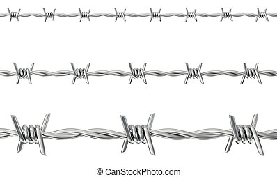 barbed wire isolated on a white. 3d illustration