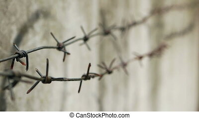 Barbed wire lock barrier