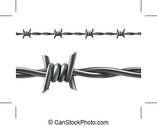 Barbed wire seamless vector - Barbed wire, seamless vector