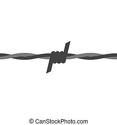 Barbed wire seamless vector with flat color style