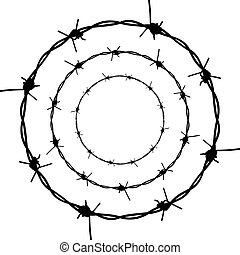 Barbed Wire Silhouette - Silhouette barbed wire illustration...