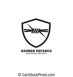 barbed wire vector illustration design template
