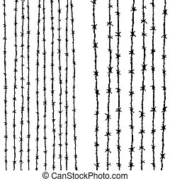 Barbed wire vertical