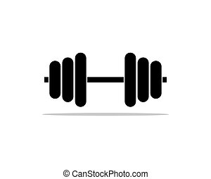 Barbel, Dumbbell Gym Icon Logo Template