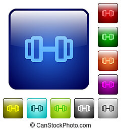 Barbell color square buttons